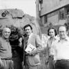 Con Fulvio Tomizza, Novello Finotti, Alessandro Mozzambani, Sommacampagna, 1976