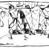 """Scena per """"Cartoni animati"""", di Mario Bugamelli, Teatro """"Giuseppe Verdi"""", Trieste, 29 dicembre 1948"""