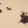 Danzatrice con gabbiani (1959, bronze, l. 120 x h. 126, cat. 512); photography Costa Crociere, Genova
