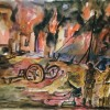 In guerra (1943, watercolour)