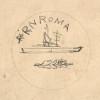Studio per la Medaglia celebrativa della Regia Nave Roma (1942, inchiostro su carta)