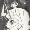 Società dei Concerti. Trieste. 1960-1961, programma della stagione, Società dei Concerti, Trieste, 1960 (disegno Uomo che canta, 1952).